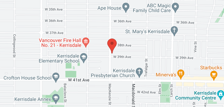map of 2887 W 39TH AVENUE