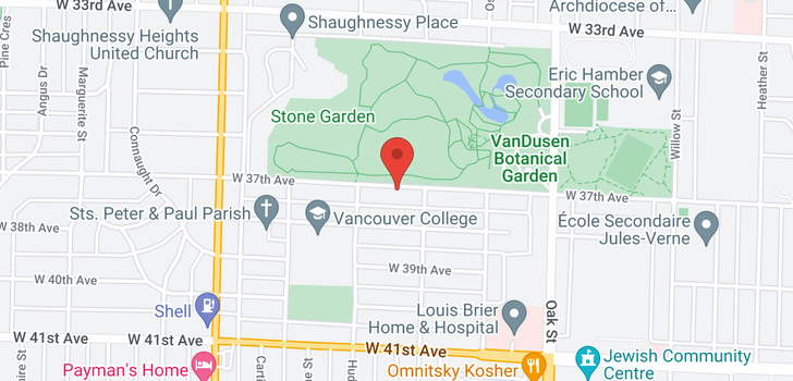 map of 1238 W 37TH AVENUE