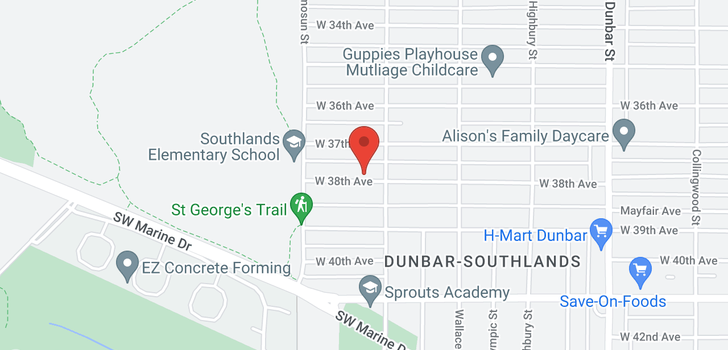 map of 4025 W 38TH AVENUE