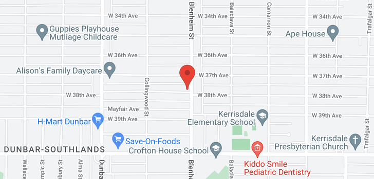 map of 3315 W 38TH AVENUE