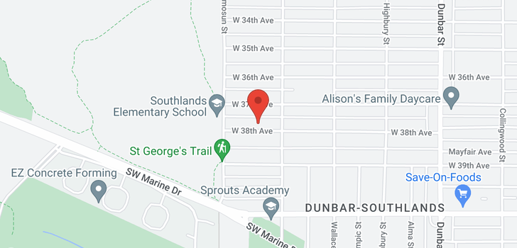 map of 4039 W 38TH AVENUE