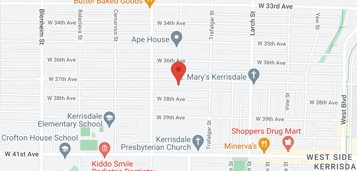 map of 2806 W 37TH AVENUE