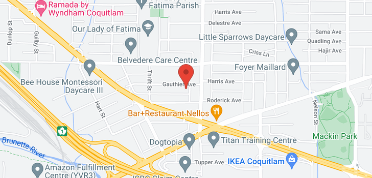 map of 210 828 GAUTHIER AVENUE