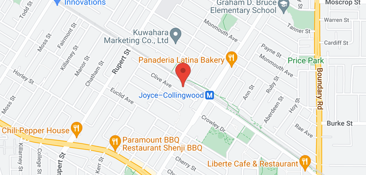 map of 3339 CLIVE AVENUE