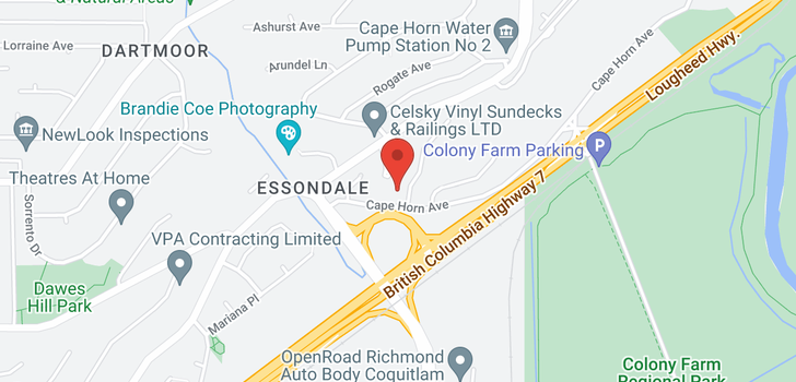 map of 2599 CAPE HORN AVENUE
