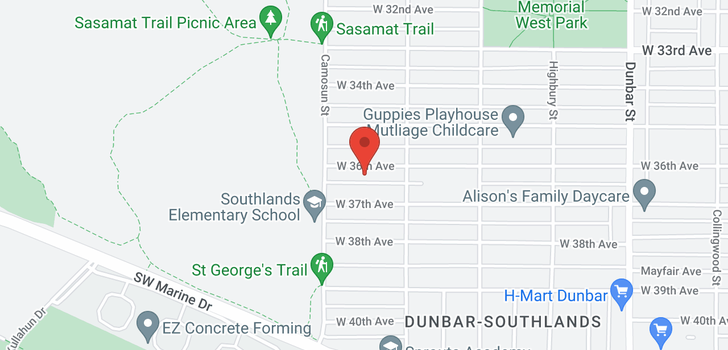 map of 4050 W 36TH AVENUE