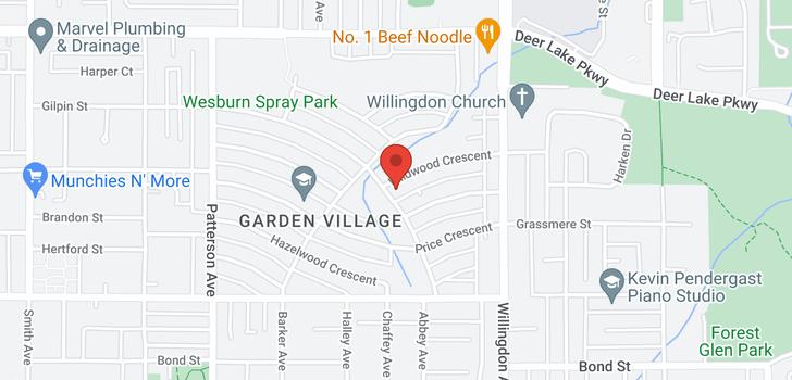 map of 4336 WILDWOOD CRESCENT