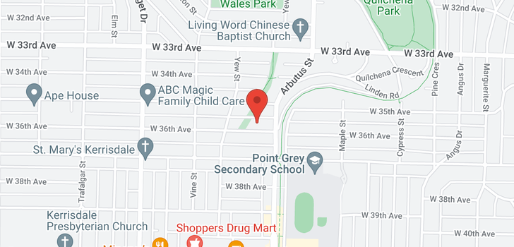 map of 2143 W 36TH AVENUE