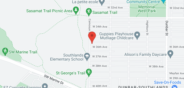 map of 4085 W 36TH AVENUE