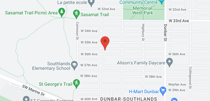 map of 3981 W 36TH AVENUE