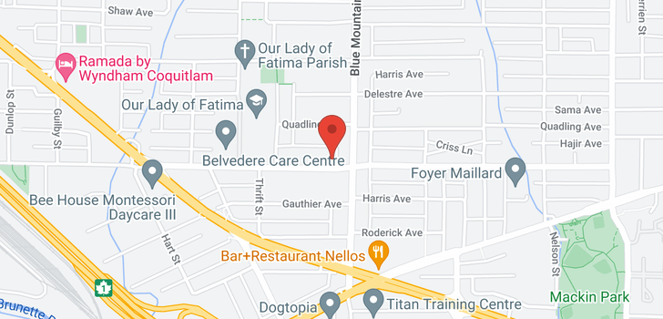 map of 833 ALDERSON AVENUE