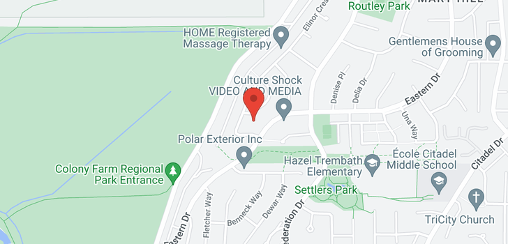 map of 1314 EASTERN DRIVE