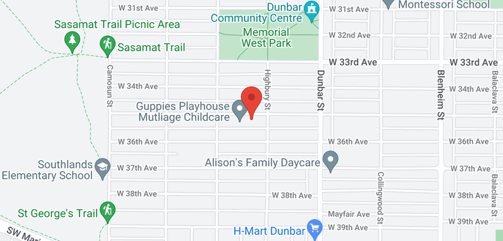 map of 3828 W 35TH AVENUE