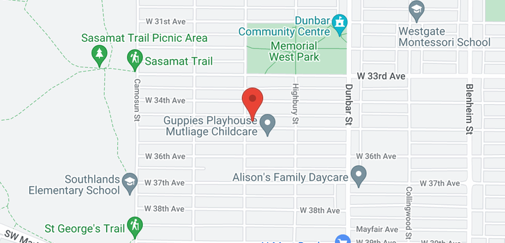 map of 3885 W 35TH AVENUE