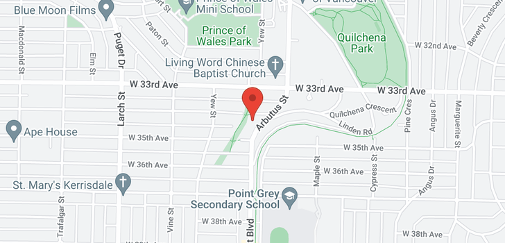 map of 2126 W 34TH AVENUE
