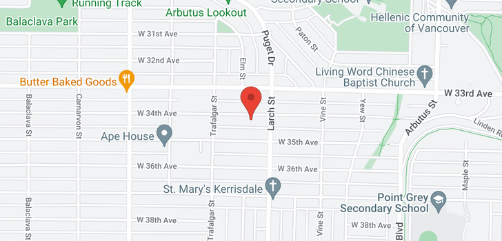 map of 2606 35TH AVENUE