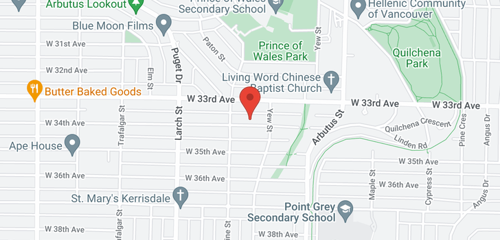 map of 2249 W 34TH AVENUE