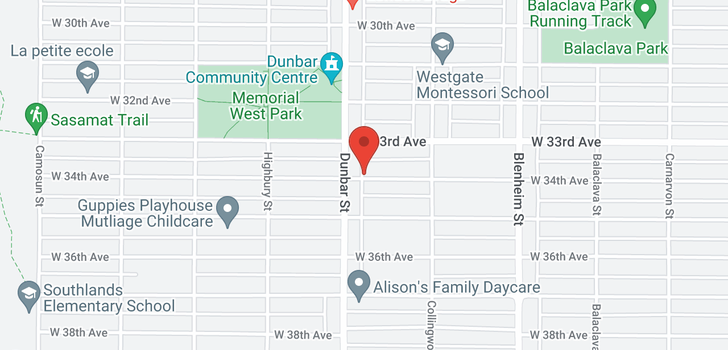 map of 3585 W 34TH AVENUE