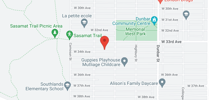 map of 3939 W 34TH AVENUE