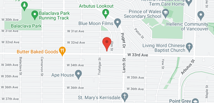 map of 2643 W 33RD AVENUE