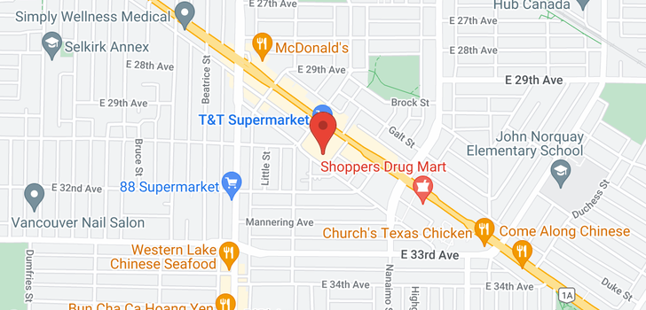 map of 806 2221 E 30TH AVENUE