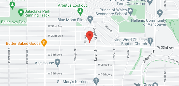 map of 2555 W 33RD AVENUE