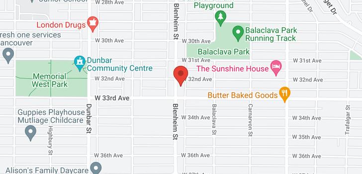 map of 4838 BLENHEIM STREET