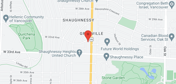 map of 1520 W 32ND AVENUE