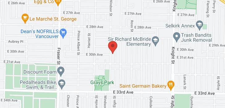 map of 4596 WINDSOR STREET
