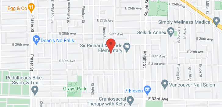 map of 4565 INVERNESS STREET