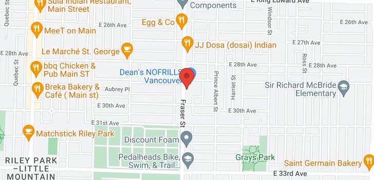map of 406 4550 FRASER STREET