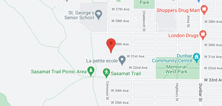 map of 4085 W 31ST AVENUE