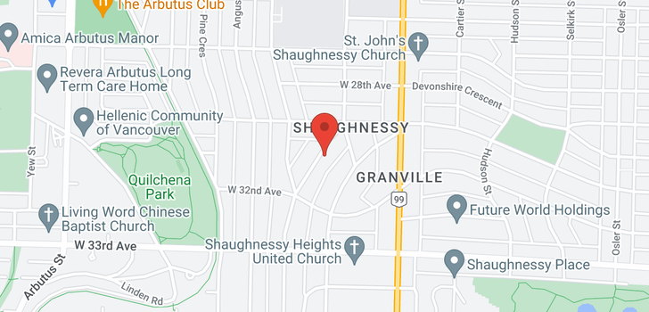 map of 4570 BEVERLY CRESCENT