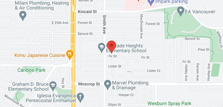 map of 3845 FIR STREET