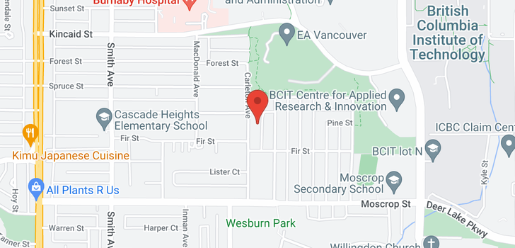 map of 4336 CARLETON AVENUE