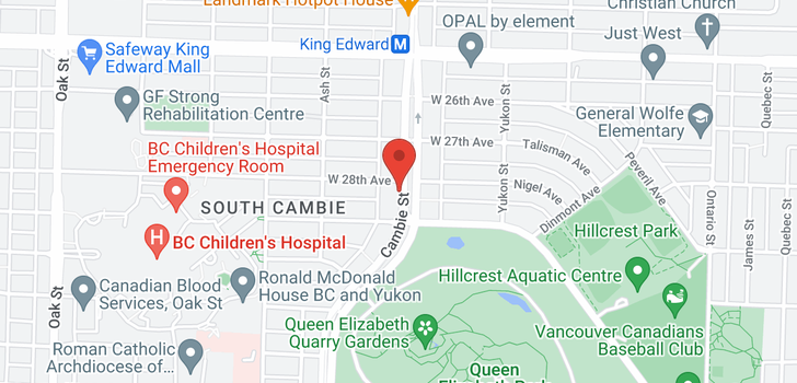 map of 111 4427 CAMBIE STREET