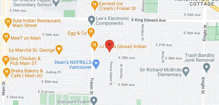 map of 4365 PRINCE ALBERT STREET