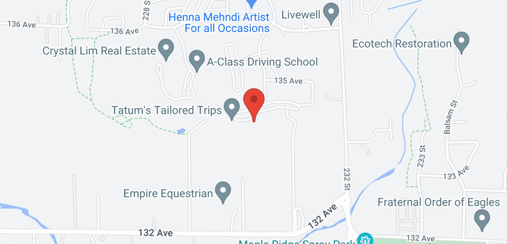map of 23106 135 AVENUE