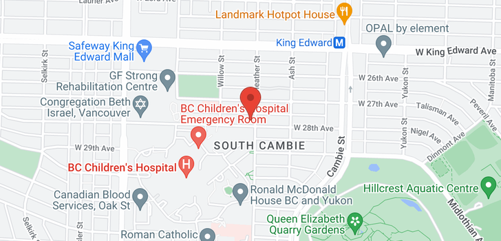map of 707 W 28TH AVENUE