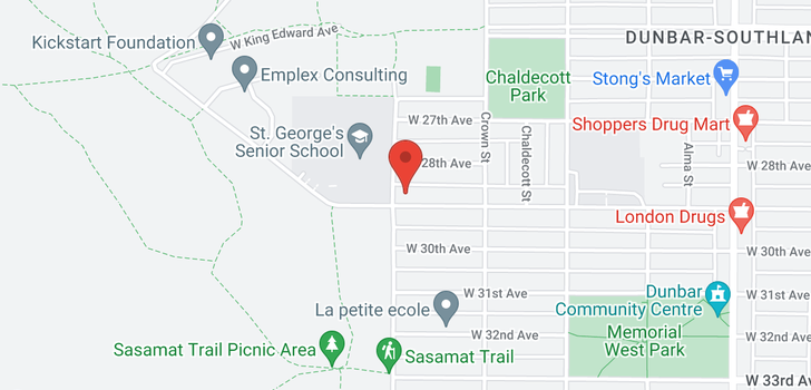 map of 4085 W 29TH AVENUE