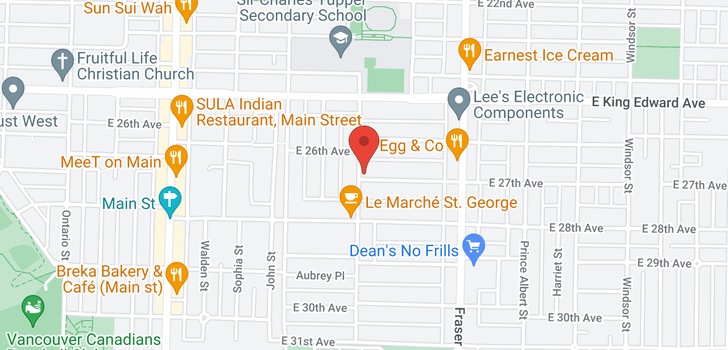 map of 505 E 27TH AVENUE