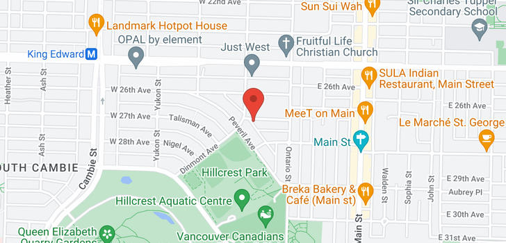 map of 86 W 27TH AVENUE