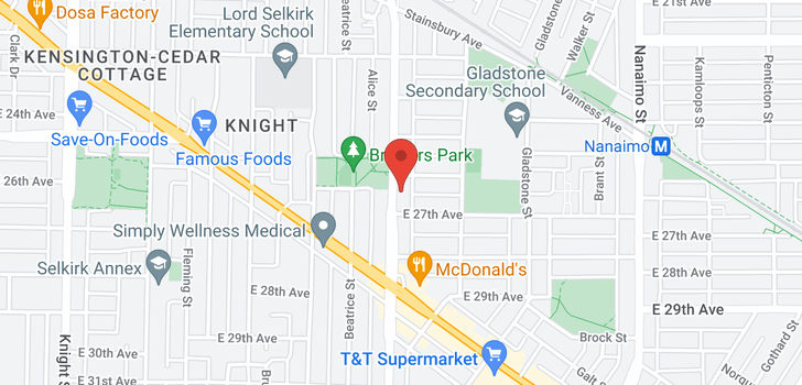 map of 4244 VICTORIA DRIVE