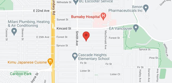 map of 3861 PINE STREET