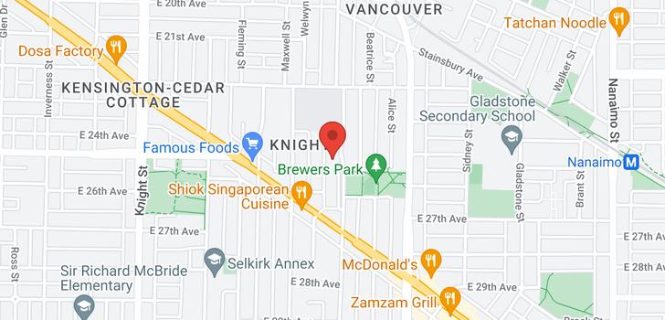 map of 4104 MILLER STREET