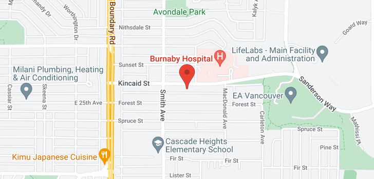 map of 3866 KINCAID STREET