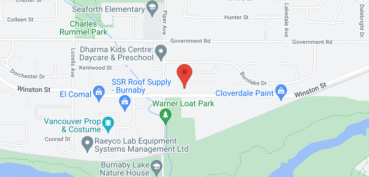 map of 3845 WINLAKE CRESCENT