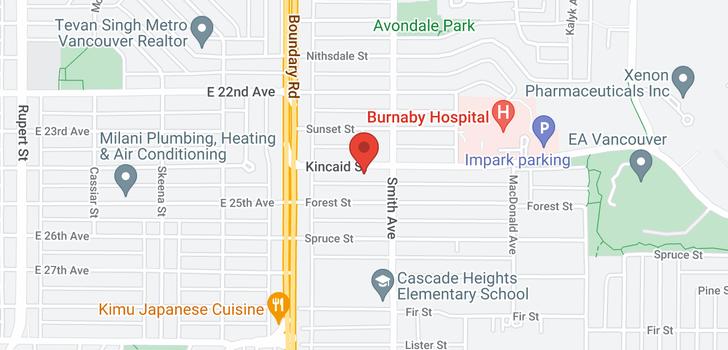 map of 3770 KINCAID STREET