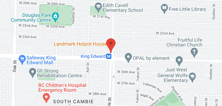 map of 901 4083 CAMBIE STREET