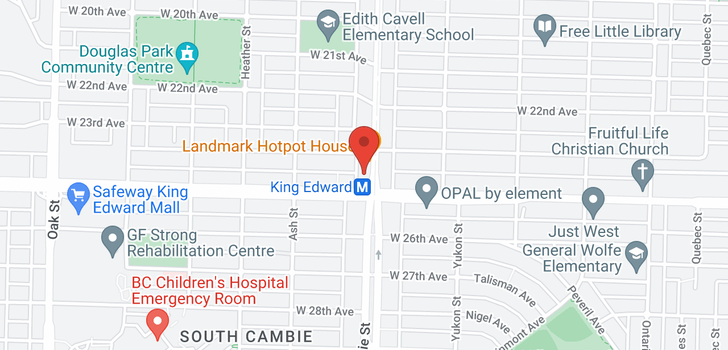 map of PH3 4083 CAMBIE STREET